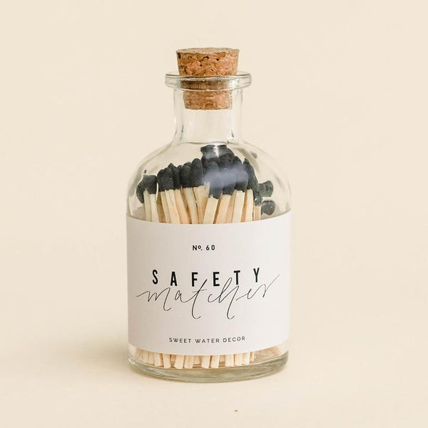 Apothecary Small Safety Matches - Black