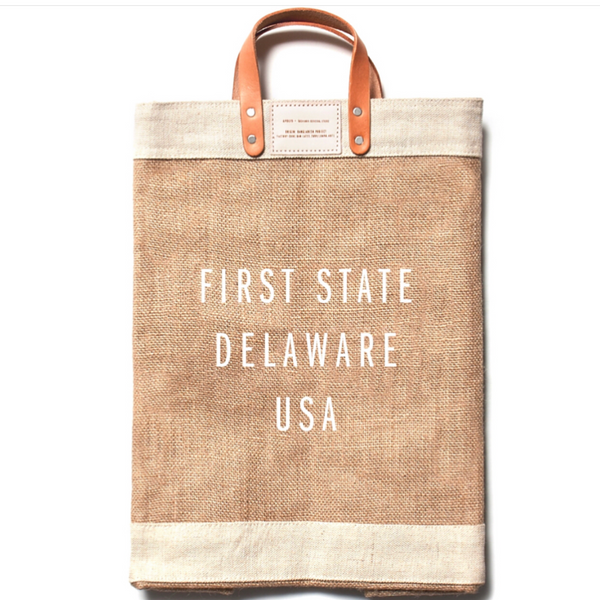 First State, Delaware, Apolis, Global Citizen Market Tote, First & Little Boutique