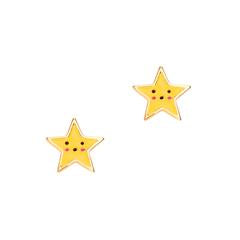GirlNation Cutie Enamel Studs - Shining Star