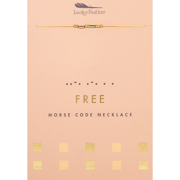 Morse Code Necklace - Free