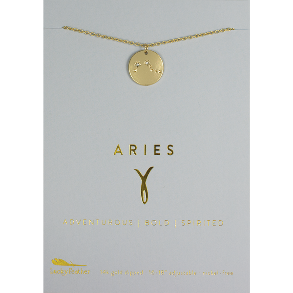 Zodiac Sign Constellation Pendant - Aries
