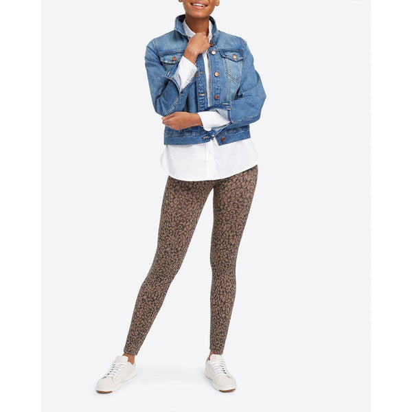 SPANX Look At Me Now Seamless Leggings - Mini Leopard
