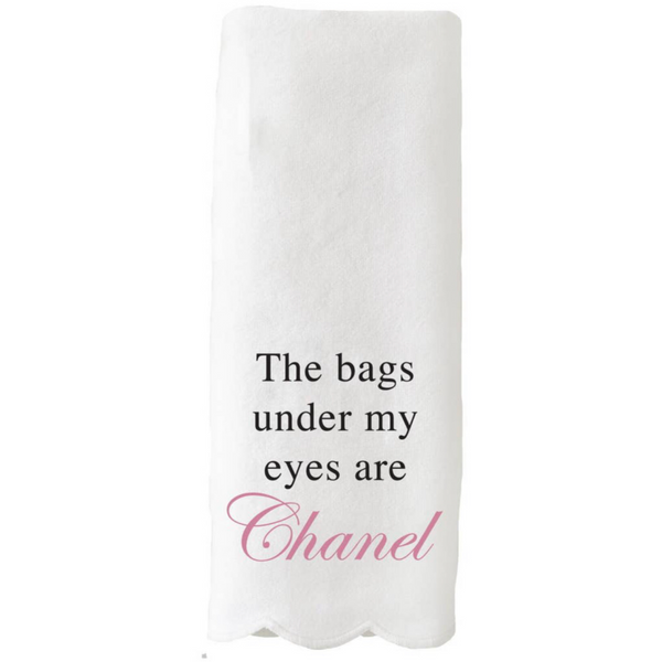 Scalloped Guest Towel - The Bags Under My Eyes