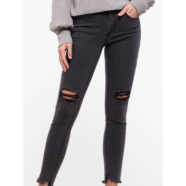 Julia Distress Jeans - Black
