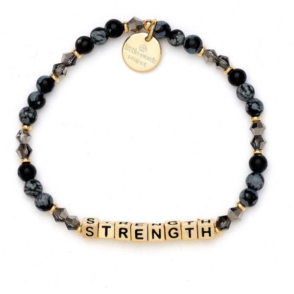 Little Words Project Strength - Stormy with Gold
