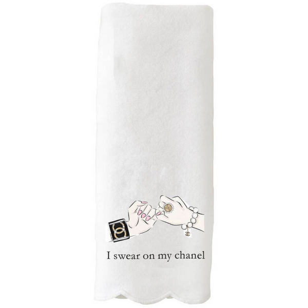 Scallop Guest Towel - Swear On My Chanel