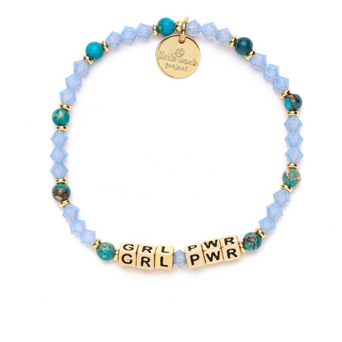 Little Words Project GRL PWR - Sea Breeze with Gold