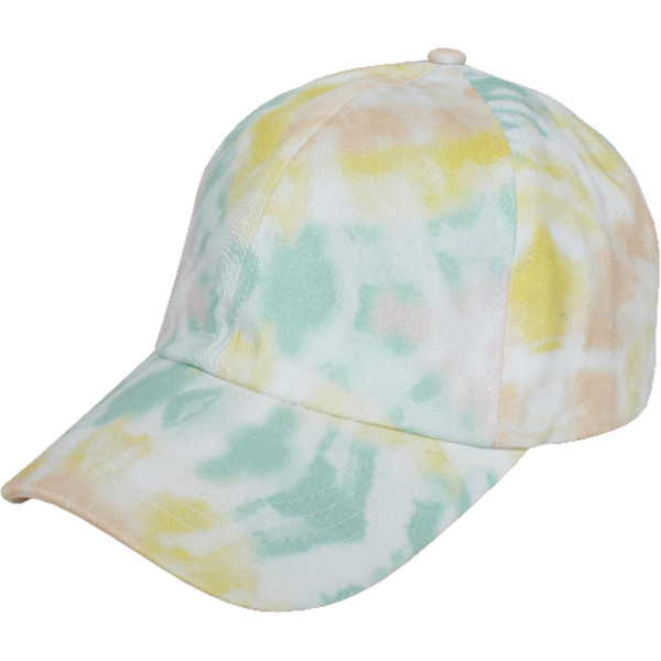 Tie Dye Baseball Hat - Yellow