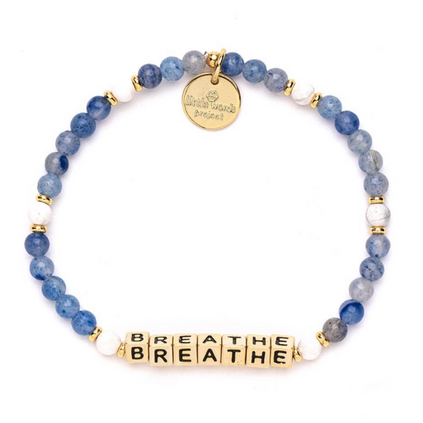 Little Words Project Breathe- Bluestone with Gold