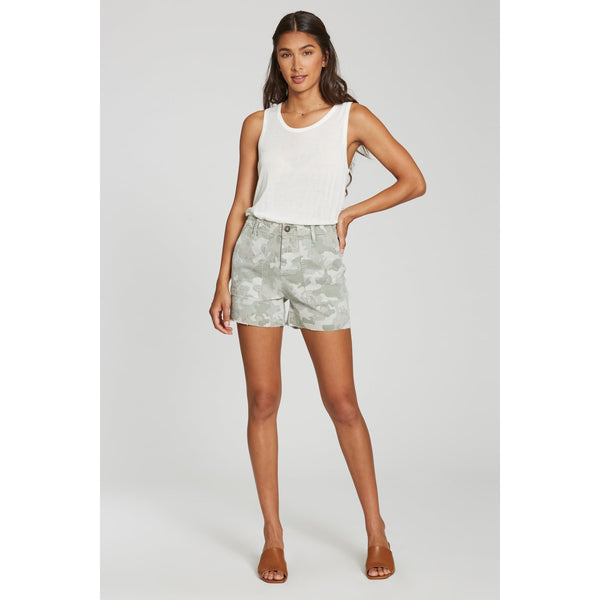 Ollie Super High Rise Short - Watercress Camo