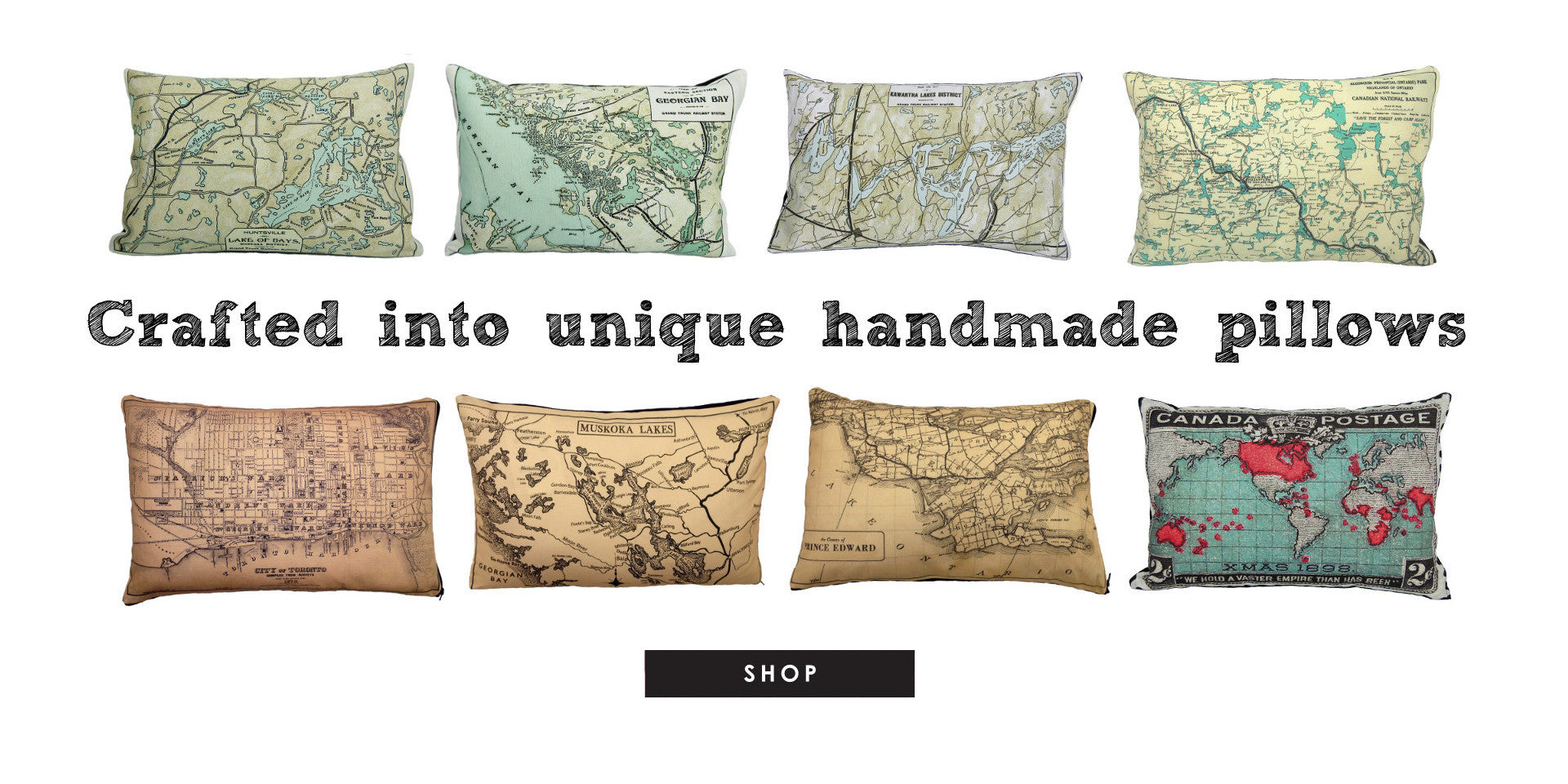 Toronto Vintage Map Pillow