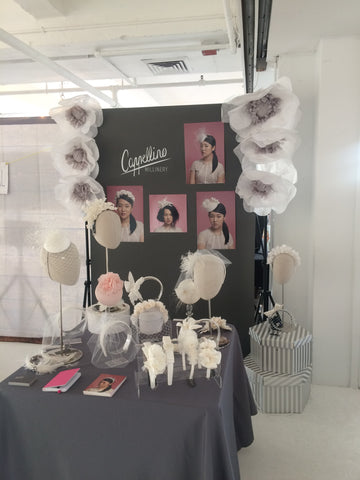 Cappellino Millinery Bridal Hair Accessories Booth at One Fine Day New York