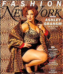 Ashley Graham Wearing Cappellino Millinery Leopard Pillbox Hat on New York Magazine