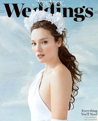 New York Weddings Magazine Cover Silk Flower Crown by Cappellino Millinery
