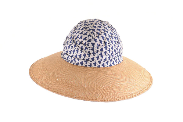 Panama Sun Hat with Turban Crown by Cappellino Millinery
