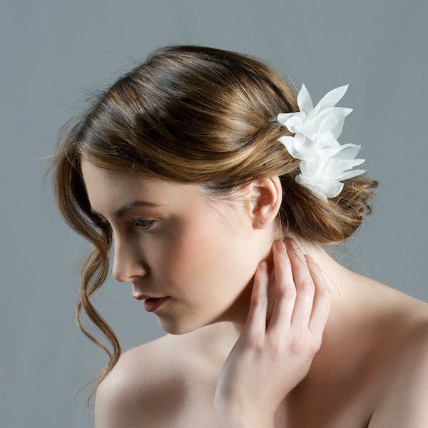 Bridal Comb with Lily Flowers by Cappellino Millinery