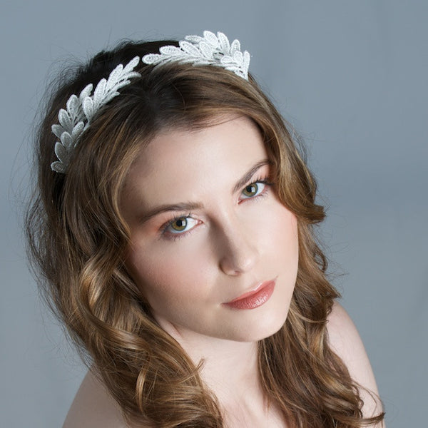 Bridal Lace Tiara by Cappellino Millinery