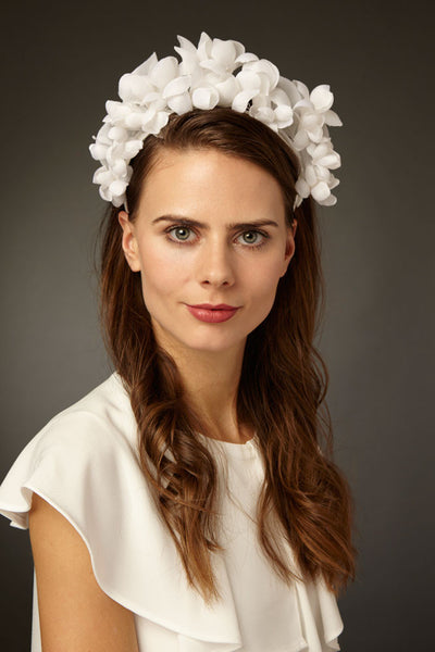 Bridal Silk Flower Crown by Cappellino Millinery