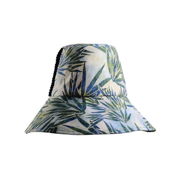 Palm Print Cotton Sun Hat by Cappellino Millinery