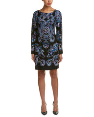 LAUNDRY BY SHELLI SEGAL vestido estampado paisley. Talla XS