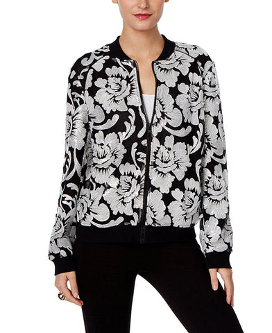 INC International Concepts Chamarra bomber bordada de lentejuelas. Talla S y M