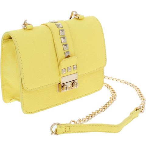 BCBG Bolso crossbody color amarillo