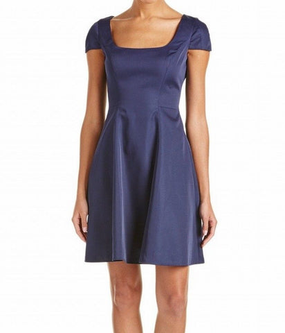 BADGLEY MISCHKA vestido de satin stretch corte en A. Talla 6