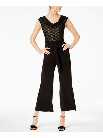 CONNECTED Jumpsuit palazzo con aplicaciones en top. Talla 12 Petite
