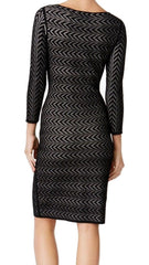 CALVIN KLEIN Vestido stretch perforado color negro. Talla S, L y XL