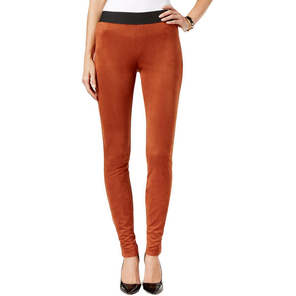 INC International Concepts pantalón skinny de gamuza textil. Talla 8