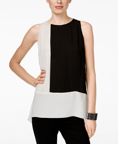 INC International Concepts blusa blanco y negro. Talla S