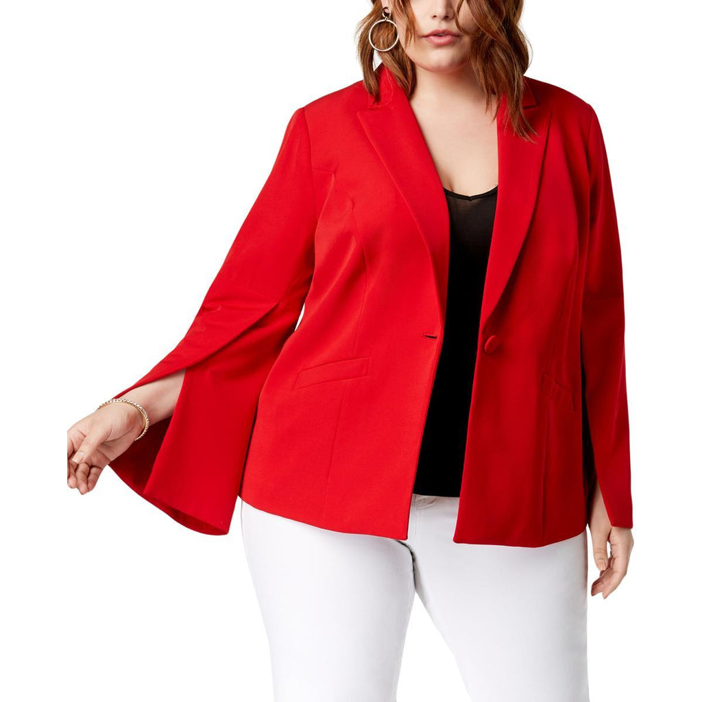 INC International Concepts saco blazer rojo con manga abierta. TALLA 1X