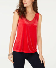 INC International Concepts blusa terciopelo rojo. Talla S y M