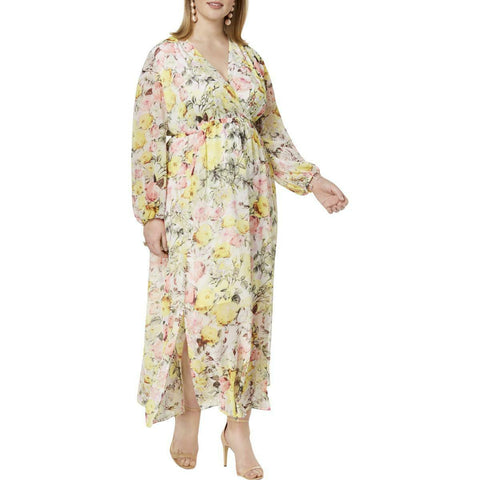 INC International Concepts maxi vestido estampado floral. Talla XL