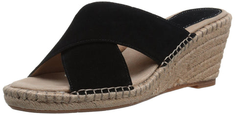 Johnston & Murphy Sandalias wedges espadriles de piel. Talla 25.5 MX