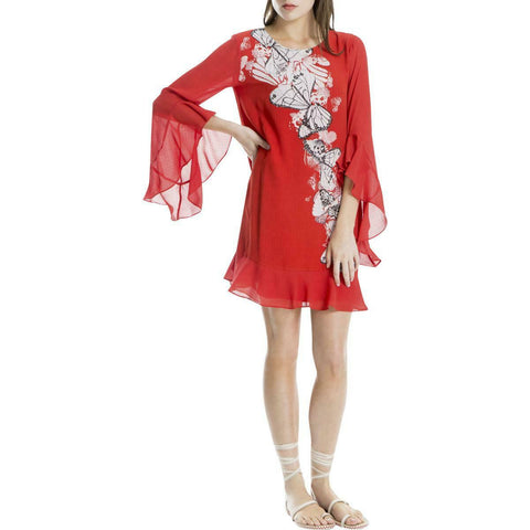 MAX STUDIO London vestido estampado mariposas.  Talla L