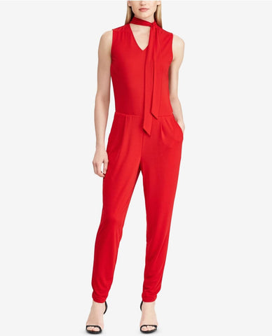 RALPH LAUREN Jumpsuit Palazzo stretch color rojo. Talla L