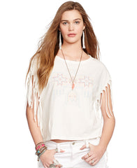 Ralph Lauren Denim & Supply blusa algodón estampado. Talla XS