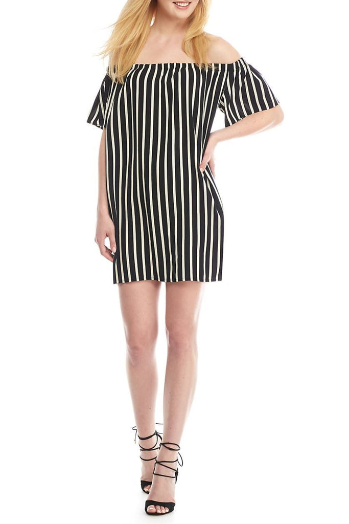 FCUK French Connection mini vestido estampado a rayas. Talla XS y S