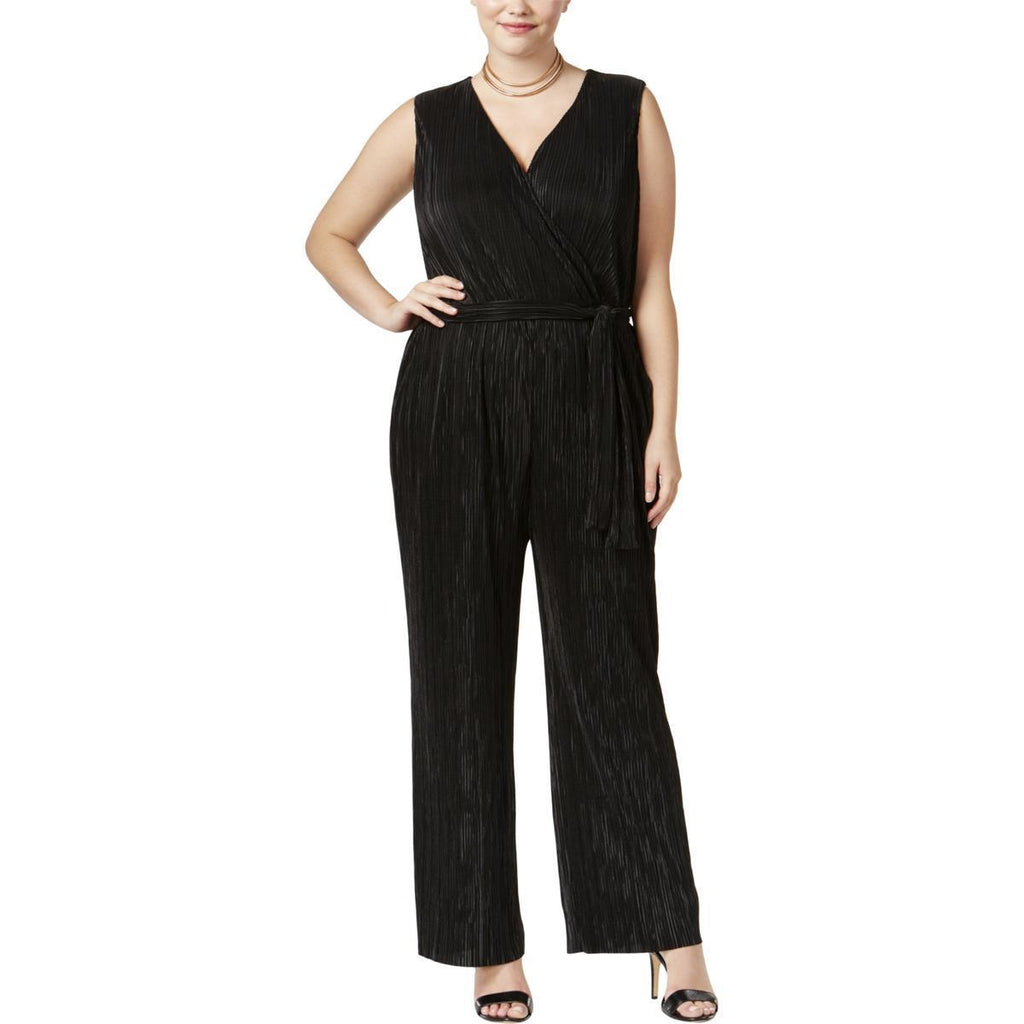 NY Collection Jumpsuit Palazzo stretch color negro. TALLA XL
