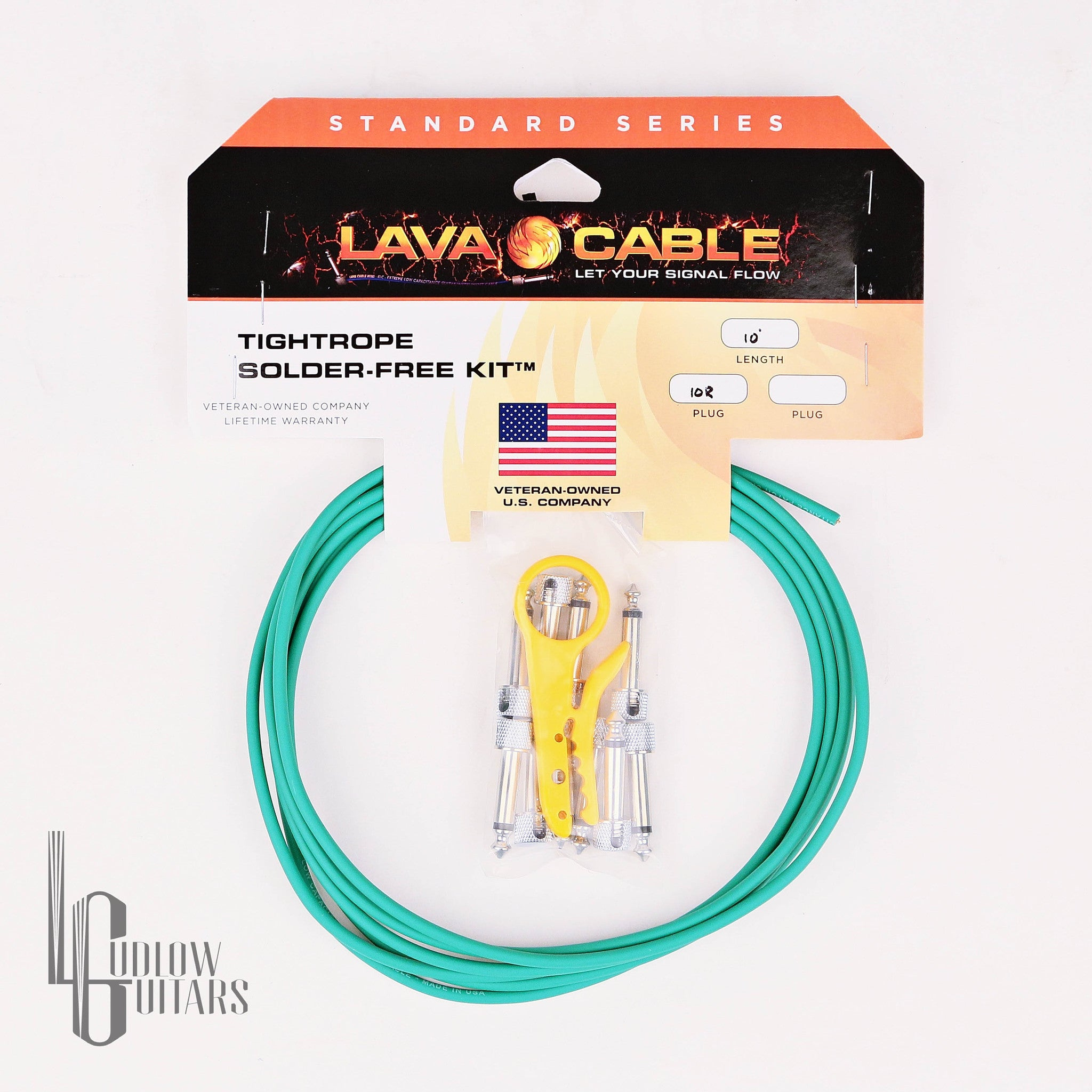 Lava Cable Tightrope Solder-Free Green