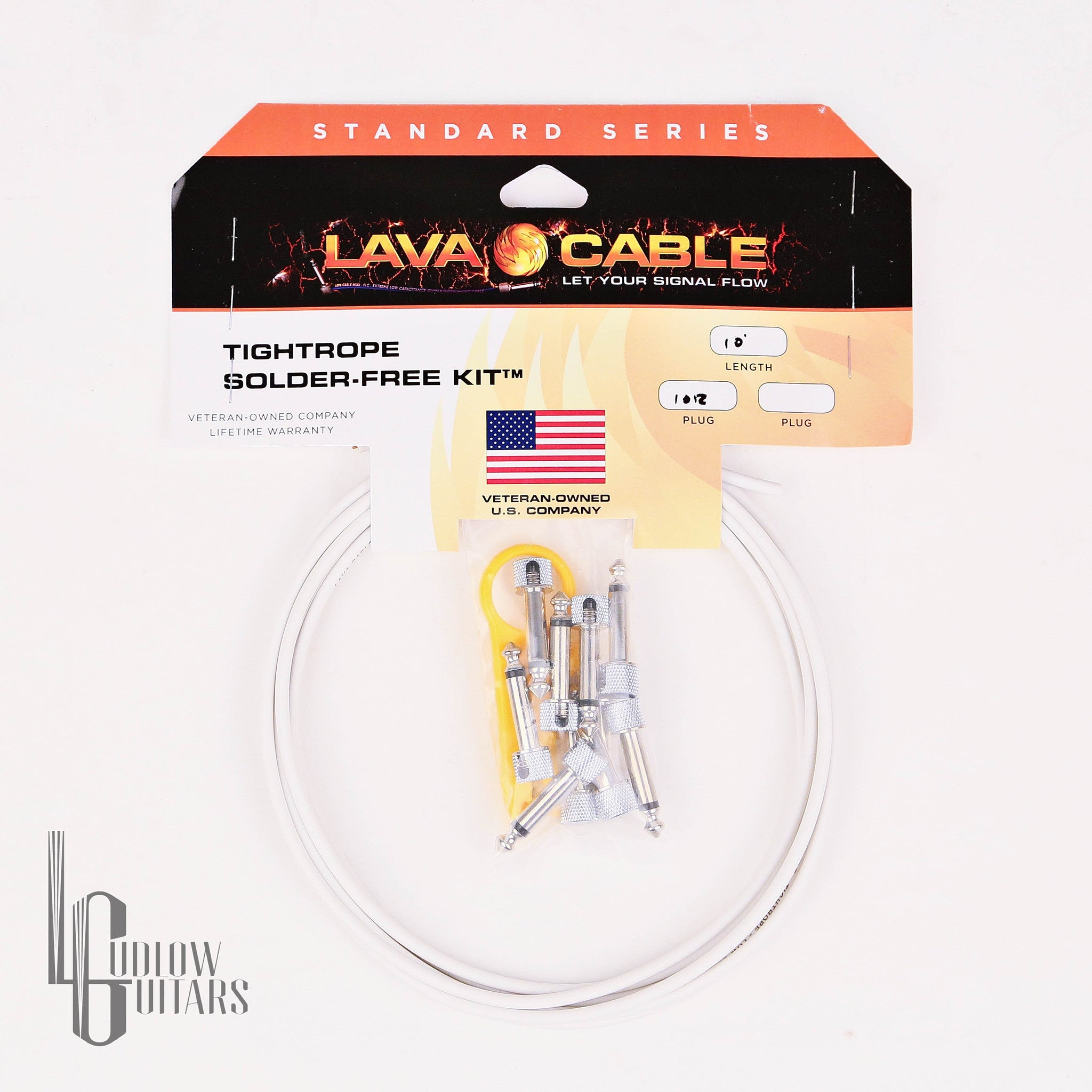Lava Cable Tightrope Solder-Free White