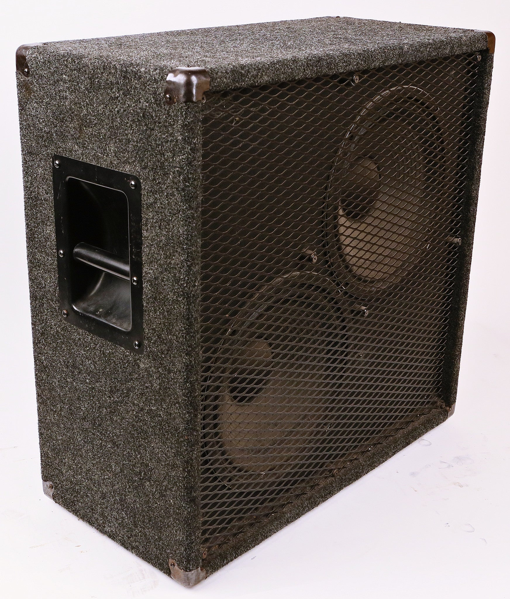 Grey Fuzzy 2x12 Guitar Cab
