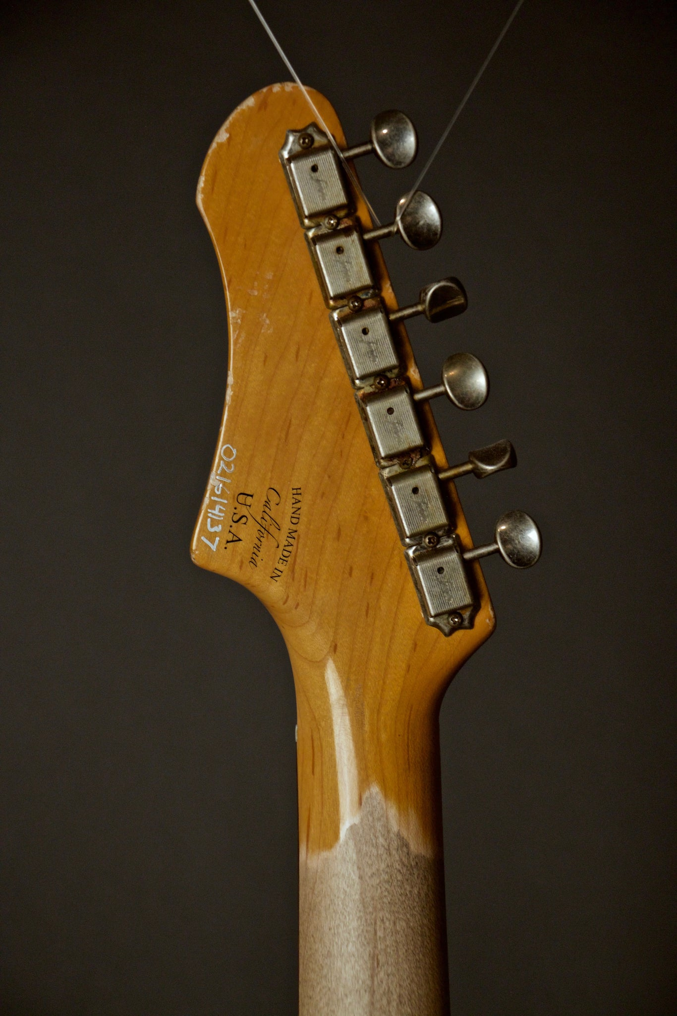 Fano Alt De Facto JM6 Electric Guitar Headstock Back