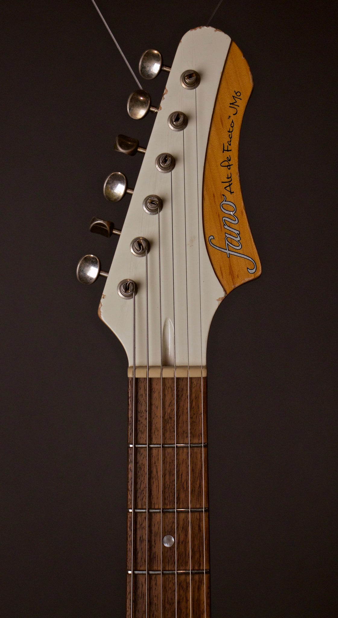 Fano Alt De Facto JM6 Electric Guitar Headstock