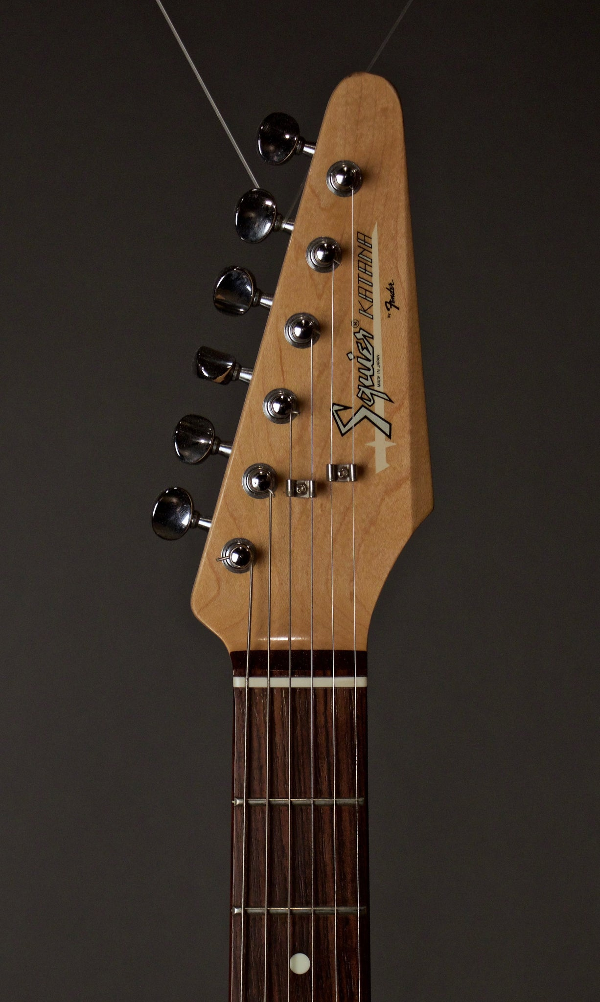 Fender Squire Katana Electric Guitar Headstock
