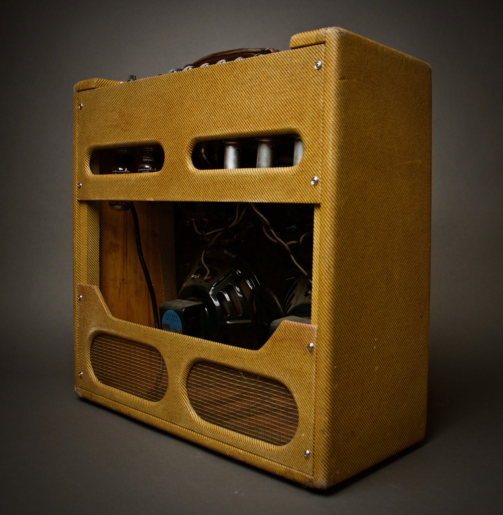 Handwired Bassman 410 Clone Combo Amp Back