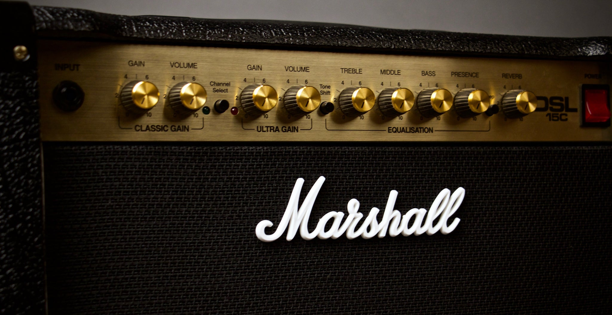 Marshall DSL15C Combo Amp Controls