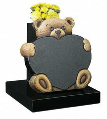 Teddy and Heart 3D-Children's Memorials-Mackay's Memorial Headstones