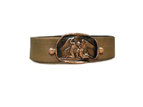 Everlasting Love Wax Seal Leather Cuff